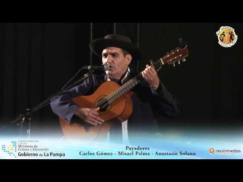 """Payadores: Carlos Gómez, Misael Palma y Anastacio Solano - Festival """"La Pampa canta y baila"""""""