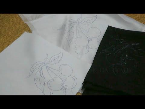 Как перевести рисунок на черную ткань