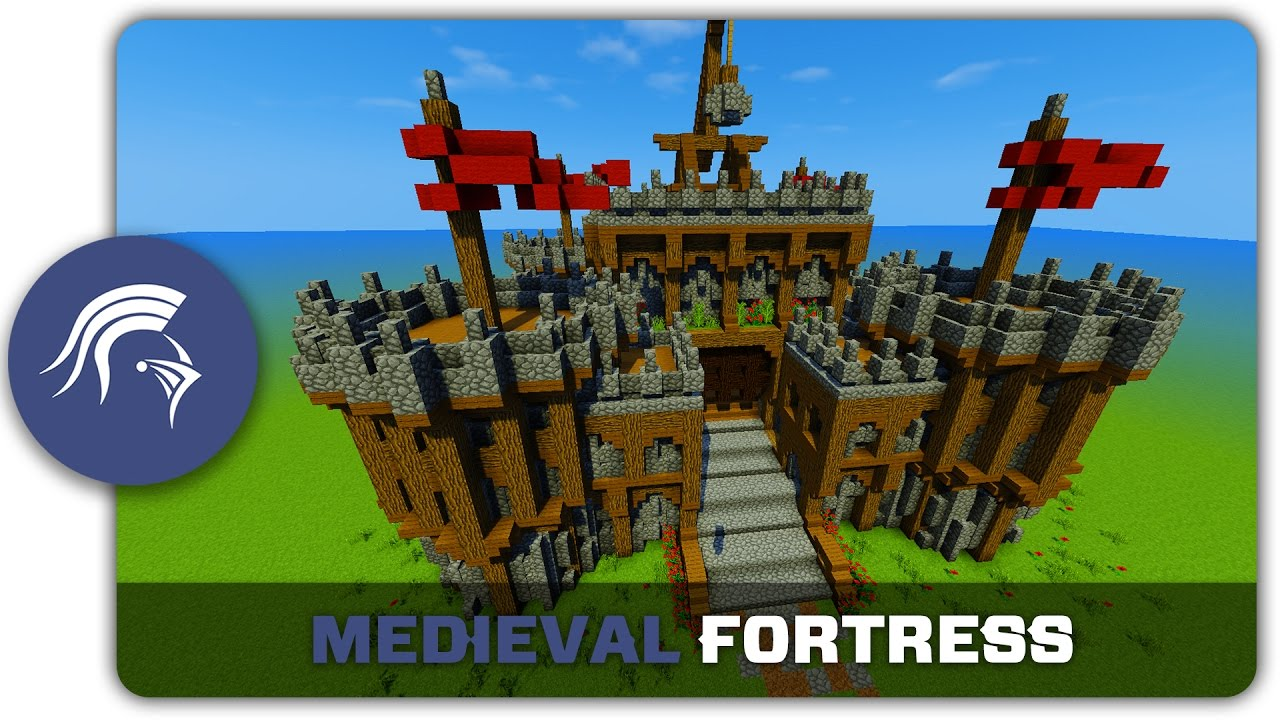 Minecraft building tutorial how to build a medieval fort for Fortress build