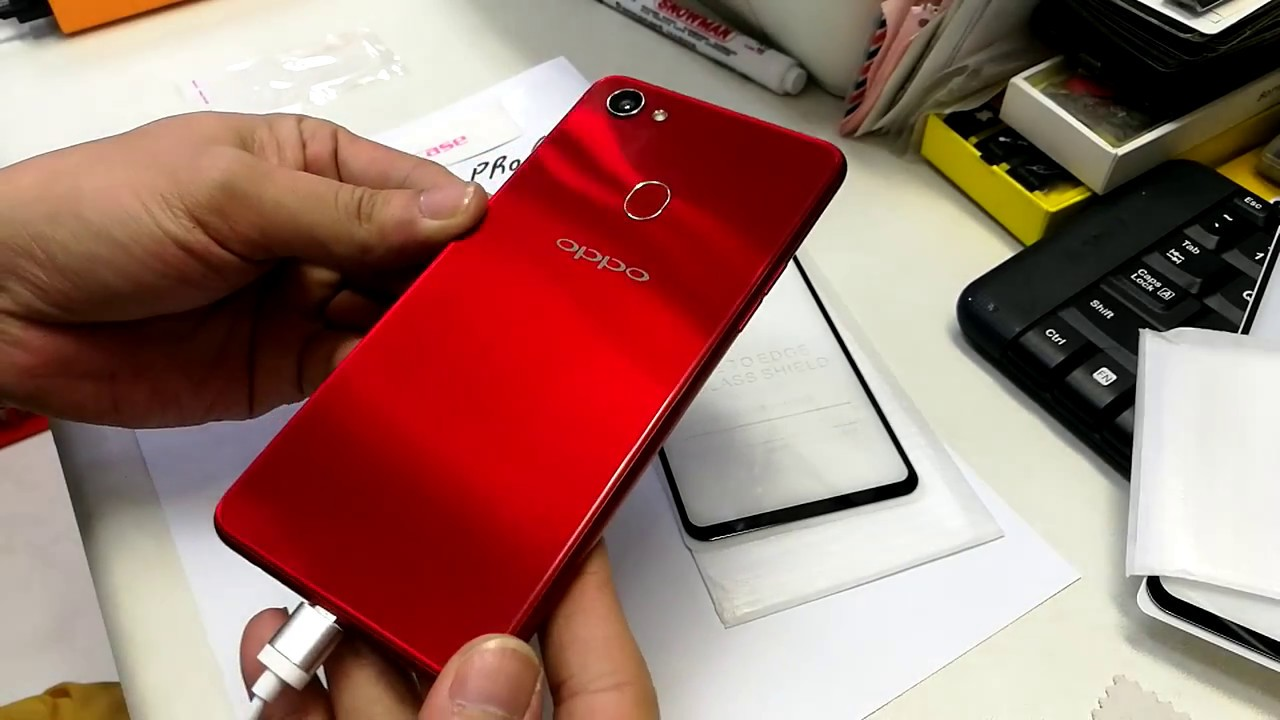 Oppo F7 Tempered Glass Perfect Full Glue Lem Youtube Cover For F1
