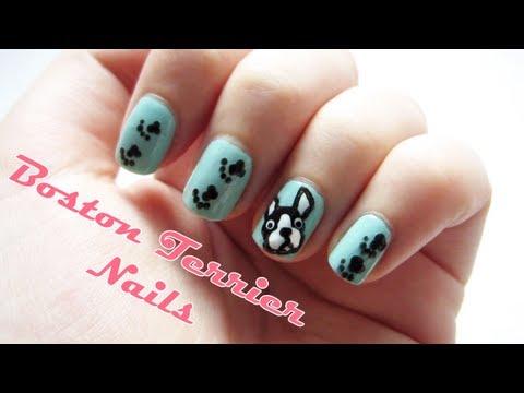 Boston Terrier Nails Diy Nail Art Decal Sticker Youtube