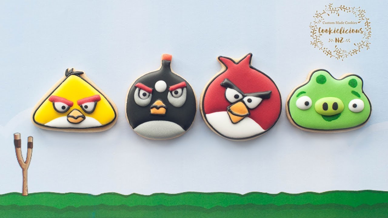 e568c1042ff7 How to make ANGRY BIRDS Cookies - Learn to make RED