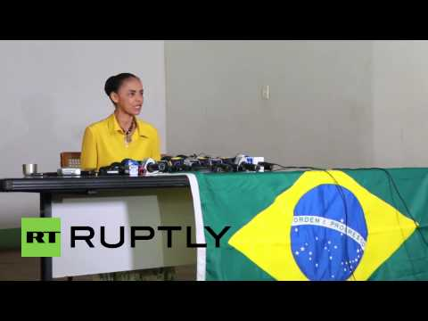 Brazil: Family affair! Presidential hopeful Marina Silva joined by DAD at polls