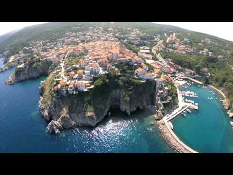 Croatia Adriatic coast from the air