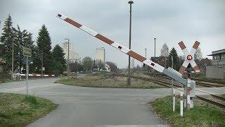 Spoorwegovergang Niederpöllnitz (D) // Railroad crossing // Bahnübergang