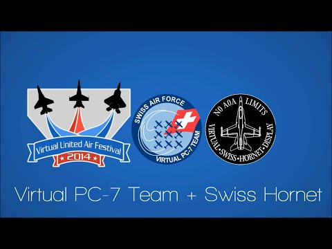 Virtual Pc-7 Team + Virtual Swiss Hornet Display - VUAF 2014 Replay