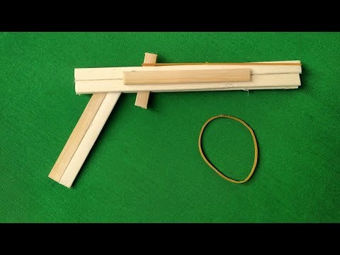 How to make pop stick weapons that hurt || Toy pistol without tape hurts easy