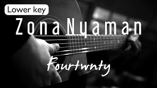 Download Zona Nyaman Fourtwnty Lower Key ( Acoustic Karaoke )