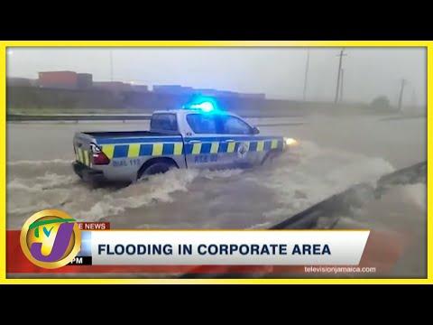 Tropical Storm Grace   Flooding in Kingston Jamaica   TVJ News - August 17 2021