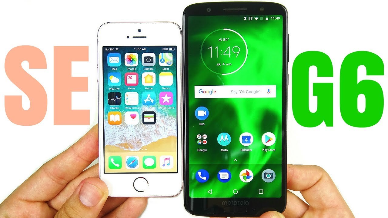 iPhone SE vs Moto G6 Speed Test! Video