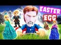 Don't Wake Daddy Hans Easter Egg Game with Frozen Elsa, Anna, Olaf, Kristoff and Sven!