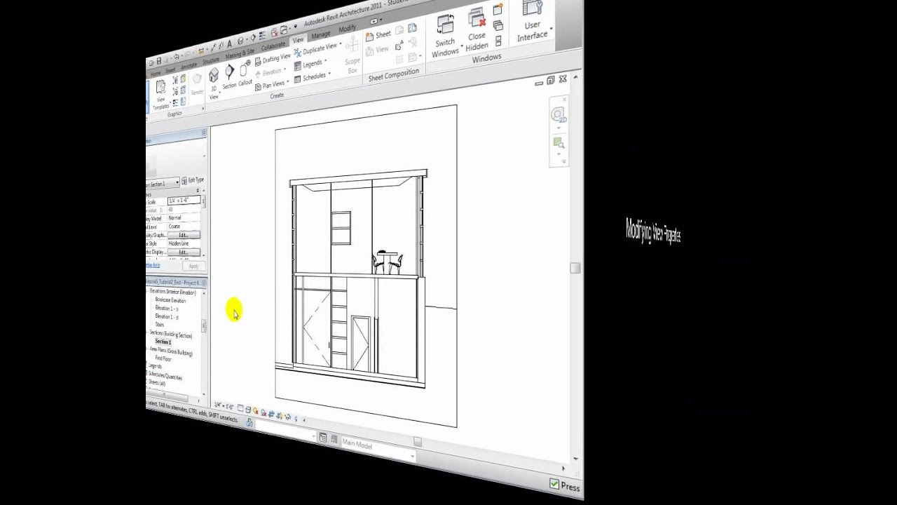 Revit Building Elevation : Revit architecture creating elevations and section views