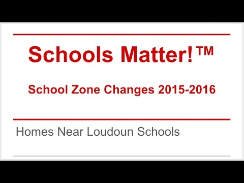 Schools Matter!  Loudoun School Zones 2015-2016
