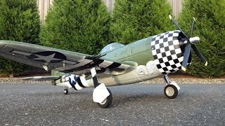 maiden flight only e flite p 47 thunderbolt with flaps retracts installed
