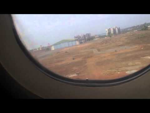Take off from goa dabolim airport to delhi on air india airbus a320