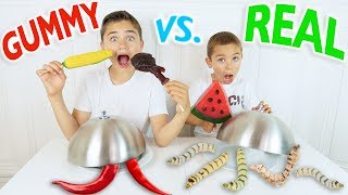 Video GUMMY FOOD VS REAL FOOD CHALLENGE - Bonbons ou Vraie Nourriture ? download MP3, 3GP, MP4, WEBM, AVI, FLV Desember 2017