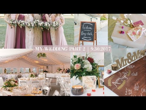 My Fall Wedding Part 2| Bridesmaid dresses, DIY Wedding Decor