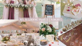 My Fall Wedding Part 2| Bridesmaid dresses, DIY Wedding Decor