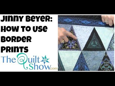 Jinny Beyer: How to Use Border Prints