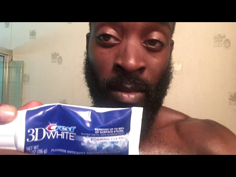 Brush Your Teeth with Crest White 3D with a Big Beard liKe Aironautikz