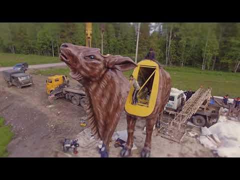 8 метровый олень! г.Сортавала. Республика Карелия.