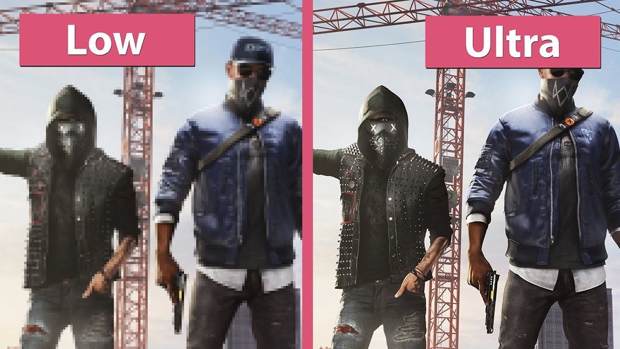 Watch Dogs 2 – PC Low vs  Ultra with Options in detail Graphics Comparison