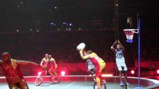Barnum and Bailey circus 2013 Unicycle Basketball