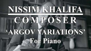 Argov Variations - for Piano