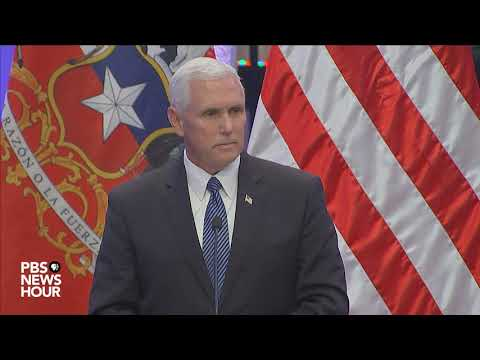 Vice President Pence responds to question on President Trump