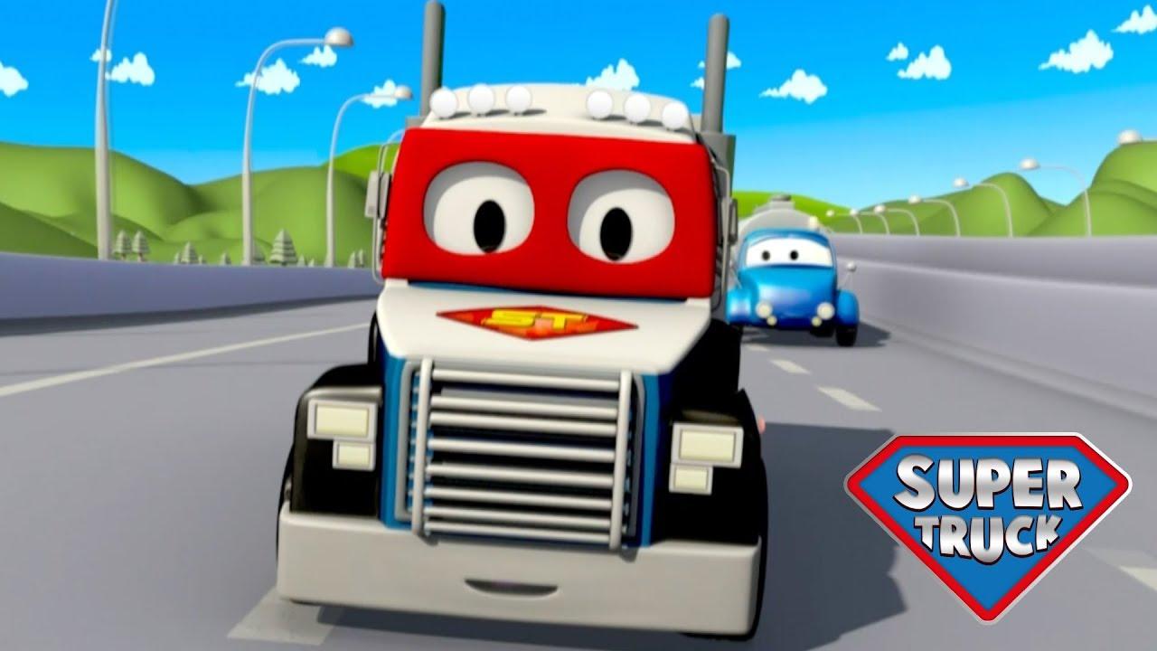 Süper Kamyon Carl | Polis Arabası - Çizgi Film
