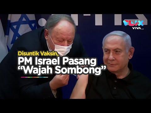 Wajah Sombong' PM Israel Saat Disuntik Vaksin Corona
