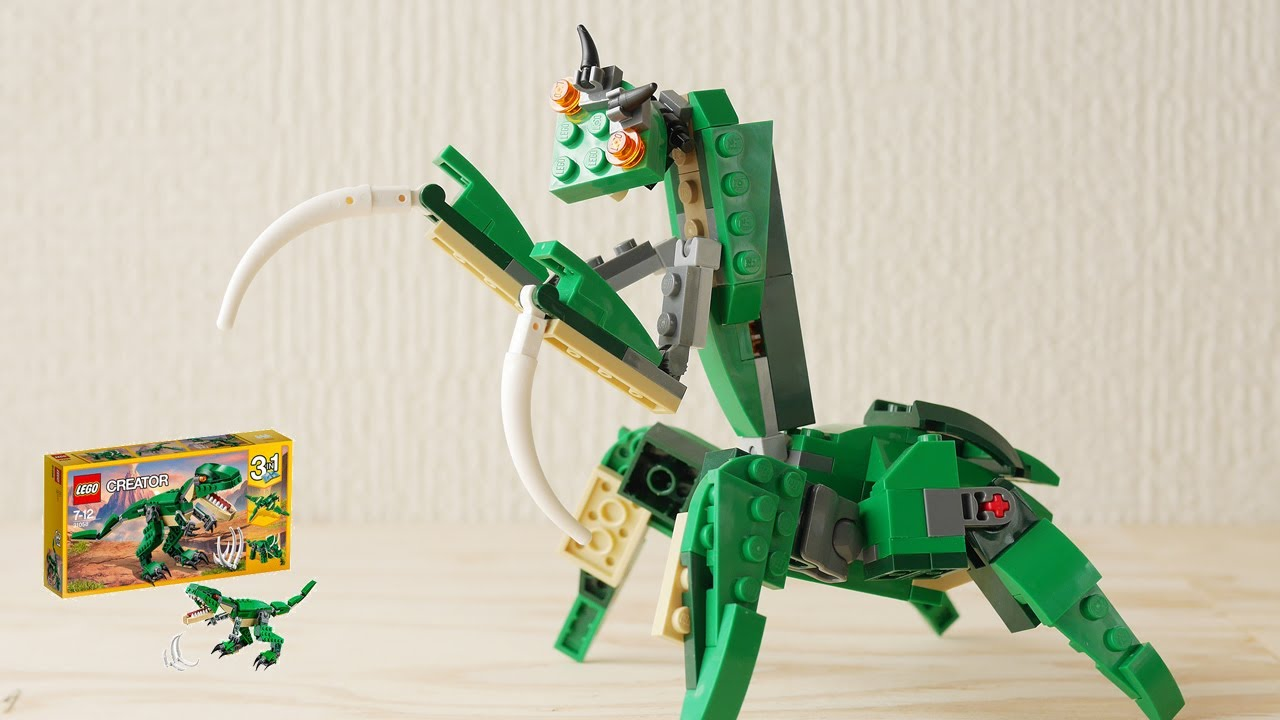 How To Build Lego 31058 Mantis 4th Alternate Build Dinosaur Youtube