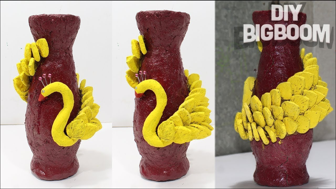 YouTube & How to make flower vase with clay (Engineering Clay)   DBB
