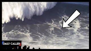 Unreal! Death-Defying Surfer Rides Enormous Wave