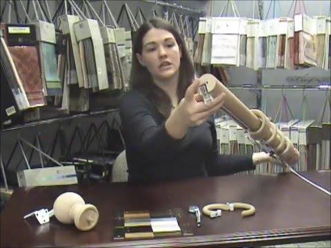 Wood Traverse Rods - www.InteriorDecorating.com
