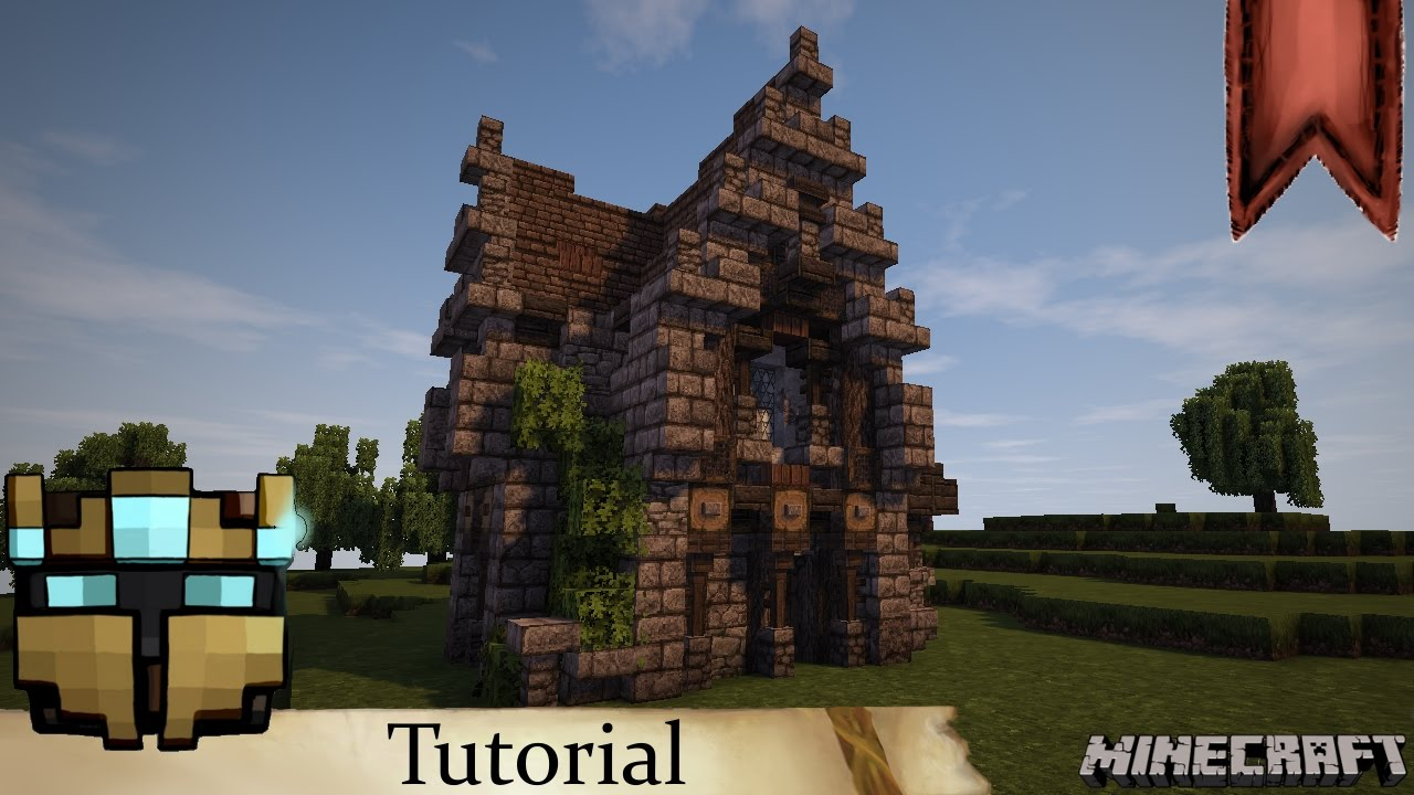 Minecraft Mittelalter Tutorial Adeliges Wohnhaus Klein - Minecraft mittelalter haus klein