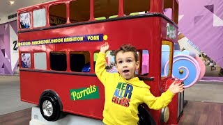 Ulya and Tisha Plays kids Car | Wheels on the Bus Songs