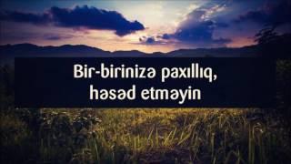 Bir Birinizə Paxilliq Həsəd Etməyin Veysəl Veysel Orucov Youtube
