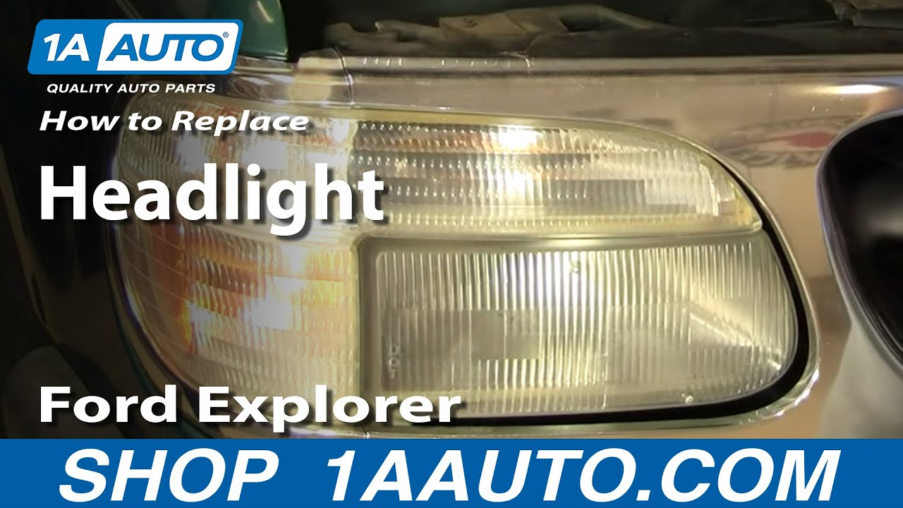how to install headlight ford explorer mercury mountaineer 95 01 1aauto com youtube [ 1920 x 1080 Pixel ]
