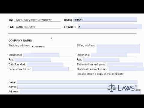 Learn How To Fill The Credit Application Form