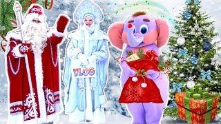 ВЛОГ В гостях у Деда Мороза 🎅 на Новогодней елке 🎄 Vlog для детей