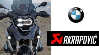 BMW R 1200 GS LC (2013) Akrapovic Sport Exhaust Sound & Acceleration Test