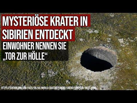 """Mysteriöse Krater in Sibirien entdeckt - Einwohner nennen sie """"Tor zur Hölle"""""""