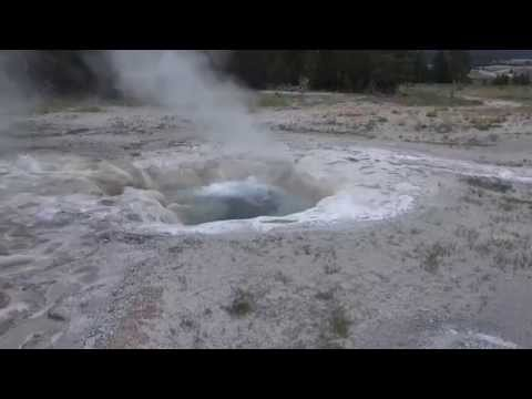 Volcanic hot spring/geyser with boiling water - Yellowstone