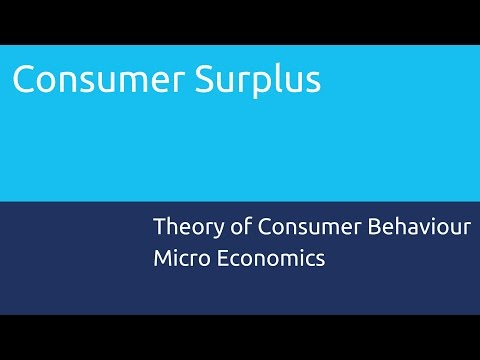 What is Consumer Surplus | Theory of Consumer Behaviour | CA CPT | CS & CMA Foundation | Class 11