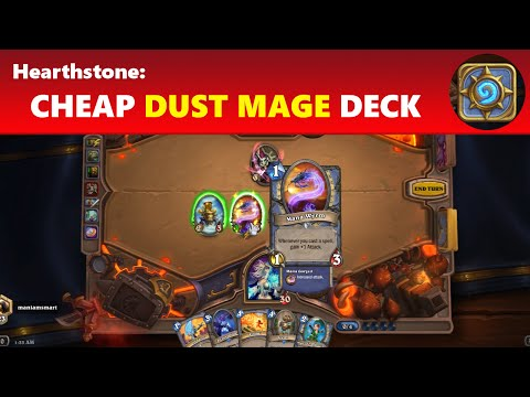 Hearthstone: Cheap Dust Tempo Mage Spell Deck - Cheap Mage Deck Guide (UPDATED VERSION AVAILABLE)