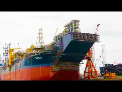 OSX-3 FPSO operating on the Tubarao Martelo Field in Campos Basin offshore Brazil.