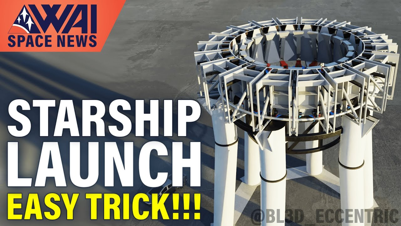 SpaceX's genius move on how to build sea and land-based Starship launch platforms!
