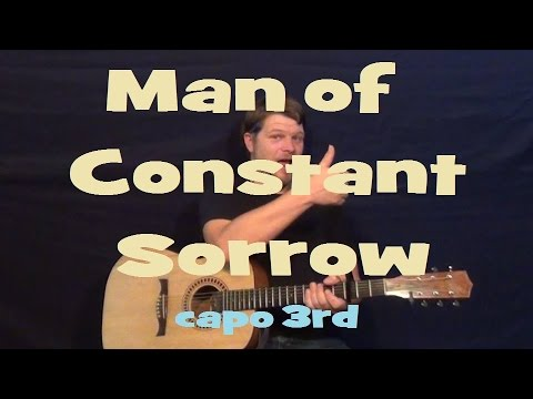 Man of Constant Sorrow (O Brother Where Art Thou) Easy Strum Guitar ...