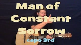 Man of Constant Sorrow (O Brother Where Art Thou) Easy Strum Guitar Lesson Chord How to Play